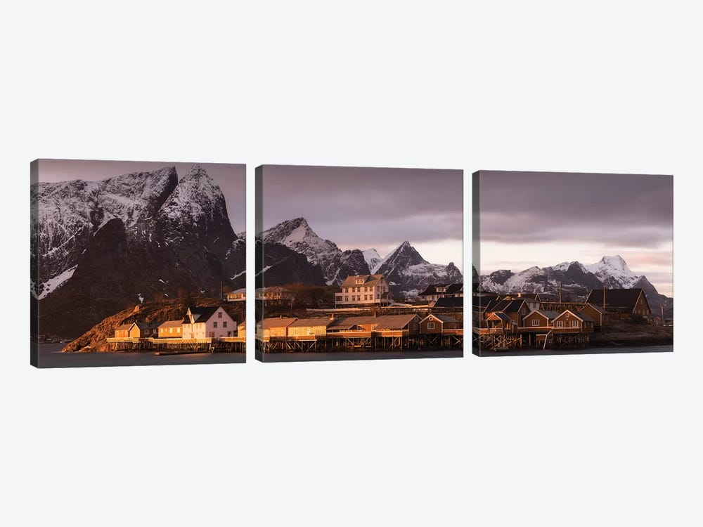 Norway Lofoten Sakrisoya III by David Clapp Photography Limited 3-piece Canvas Art