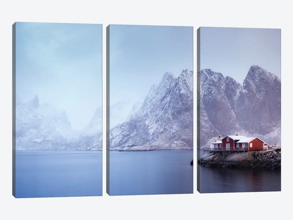 Norway Lofoten Sakrisoya XI by David Clapp 3-piece Canvas Wall Art