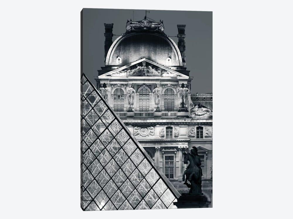 Paris Louvre Pyramid V by David Clapp 1-piece Art Print