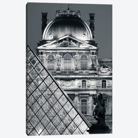 Paris Louvre Pyramid V Canvas Print #DCL75} by David Clapp Canvas Print