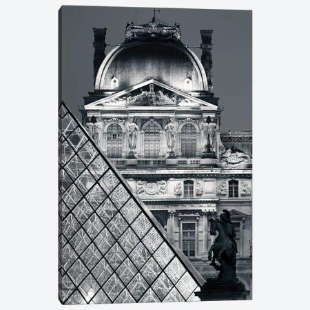 Paris Louvre Pyramid V Canvas Print #DCL75} by David Clapp Canvas Print