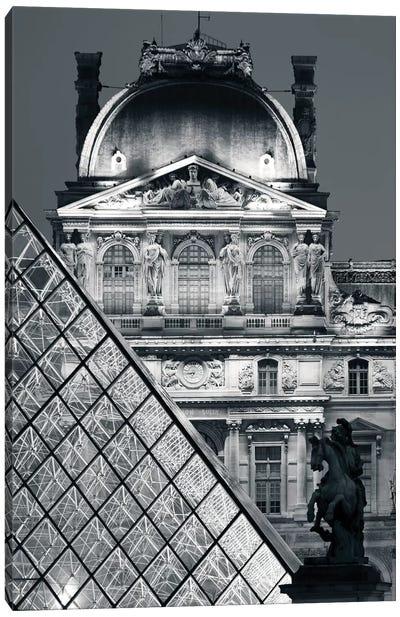 Paris Louvre Pyramid V Canvas Art Print