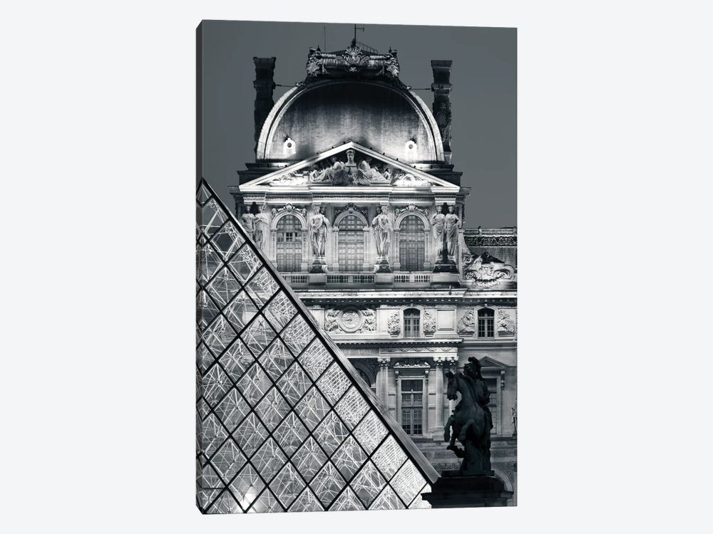 Paris Louvre Pyramid V 1-piece Art Print
