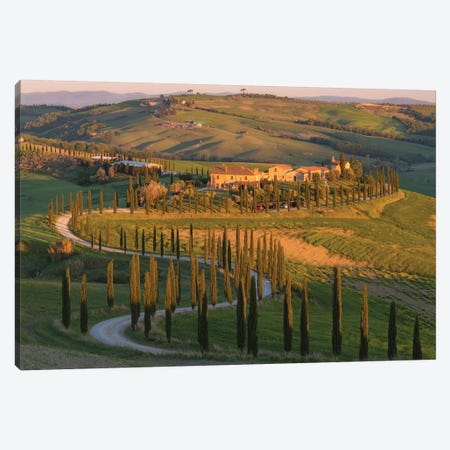 Tuscany Val d'Asso I Canvas Print #DCL87} by David Clapp Photography Limited Canvas Artwork