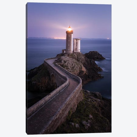 Brittany, Phare du Petit Minou II Canvas Print #DCL8} by David Clapp Art Print