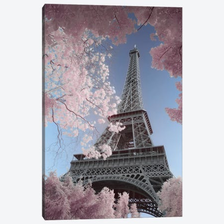 Eiffel Tower Infrared Canvas Print #DCL98} by David Clapp Canvas Wall Art