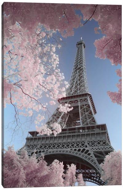 Eiffel Tower Infrared Canvas Art Print