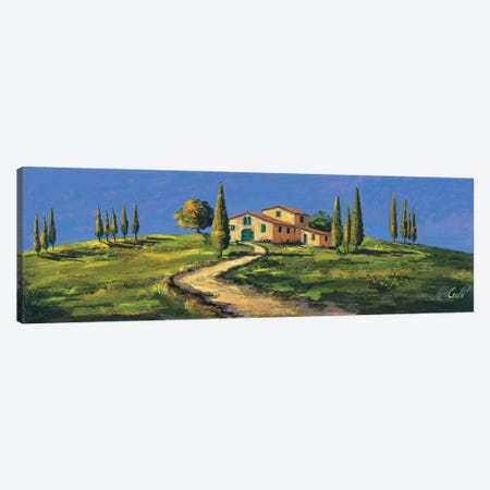 Casolare in Toscana 3-Piece Canvas #DCO10} by Daniela Corallo Art Print