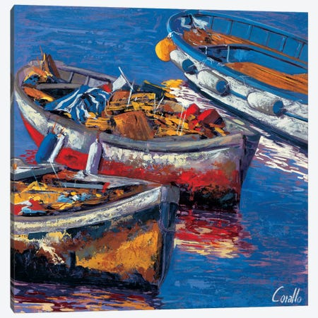 Barche all'ormeggio Canvas Print #DCO11} by Daniela Corallo Canvas Art Print