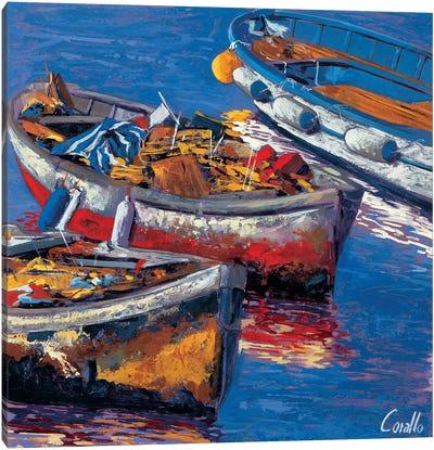 Barche all'ormeggio Canvas Art Print