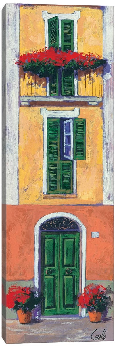 Balconi liguri II Canvas Art Print