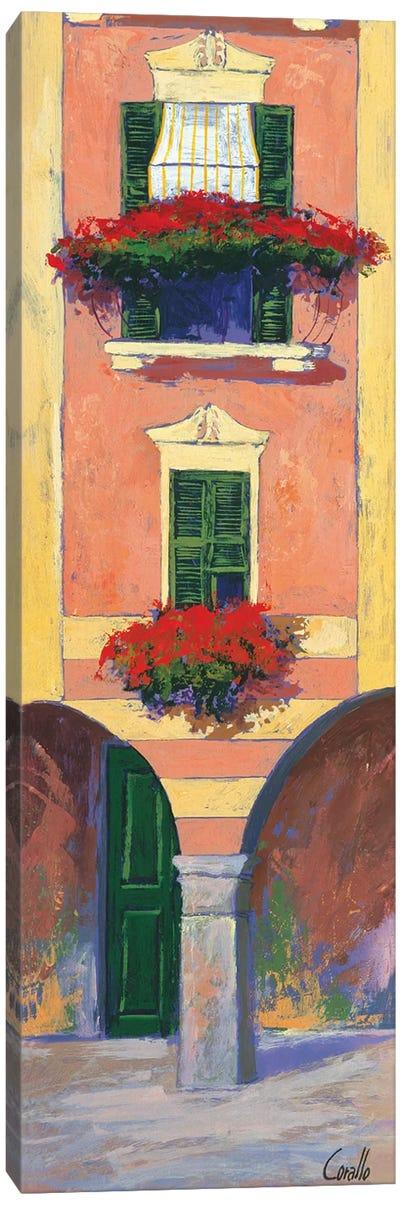 Balconi liguri III Canvas Art Print