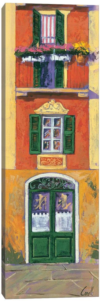 Balconi liguri IV Canvas Art Print
