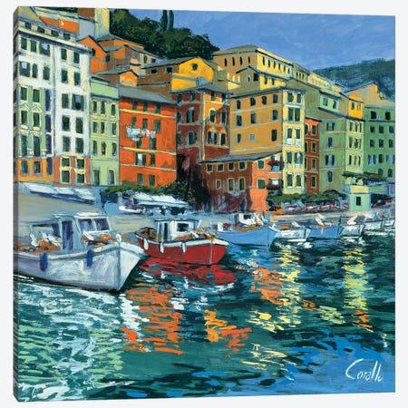 Lungomare di Camogli Canvas Print #DCO7} by Daniela Corallo Canvas Art Print