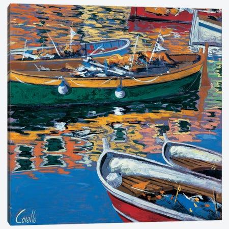 Riflessi nel porto Canvas Print #DCO8} by Daniela Corallo Canvas Artwork
