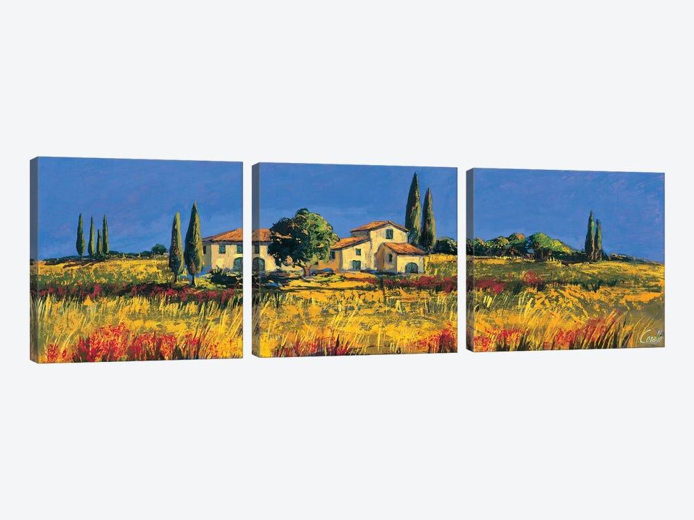 Campagna toscana by Daniela Corallo 3-piece Art Print