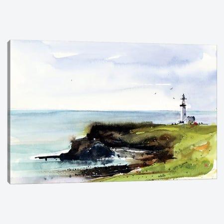 Newport Lighthouse Canvas Print #DCR102} by Dean Crouser Canvas Artwork