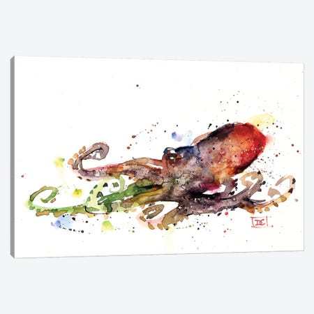 Octopus Canvas Print #DCR104} by Dean Crouser Canvas Print