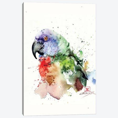 Parrot Canvas Print #DCR107} by Dean Crouser Canvas Print