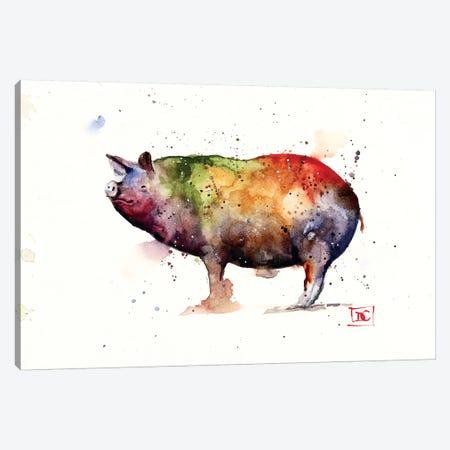 Pig Canvas Print #DCR108} by Dean Crouser Canvas Artwork