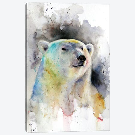 Polar Bear Canvas Print #DCR109} by Dean Crouser Canvas Artwork