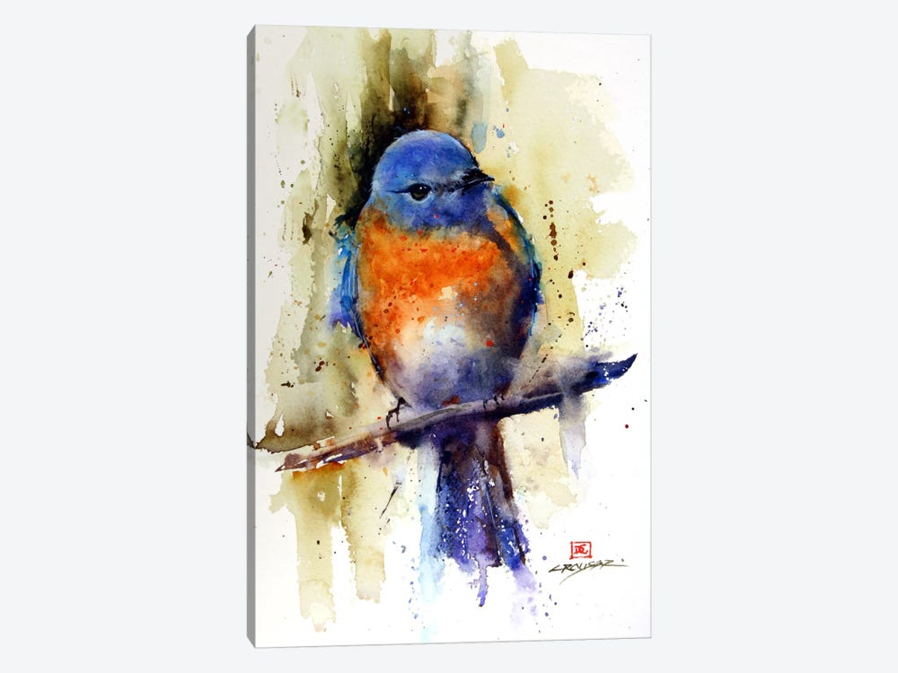 Bird on the Sprig by Dean Crouser 1-piece Canvas Wall Art