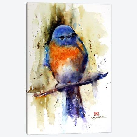 Bird on the Sprig Canvas Print #DCR10} by Dean Crouser Canvas Art