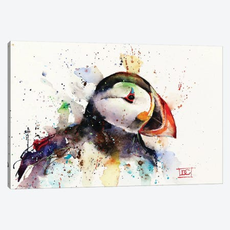 Puffin Canvas Print #DCR110} by Dean Crouser Canvas Art Print