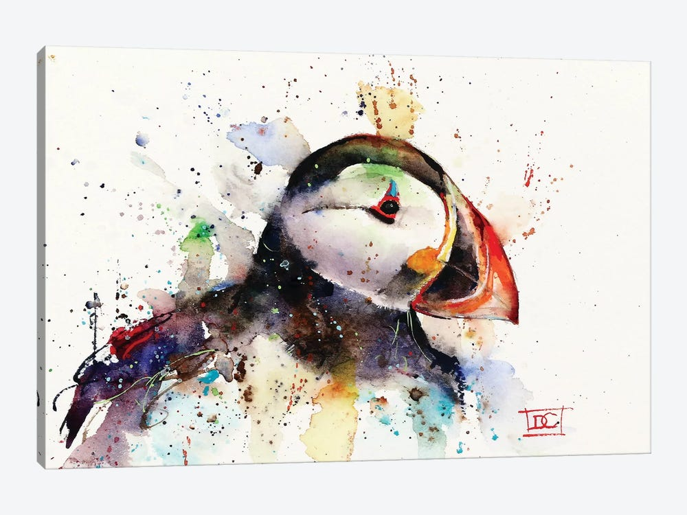 Puffin by Dean Crouser 1-piece Canvas Wall Art