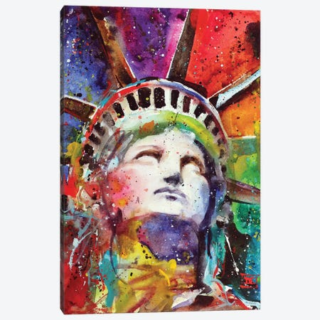 Statue Of Liberty Canvas Print #DCR114} by Dean Crouser Canvas Art