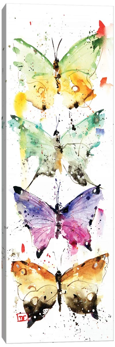 4 Butterflies Canvas Art Print