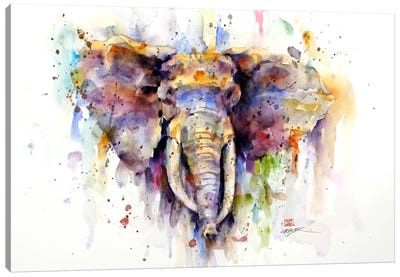 Elephant Canvas Art Print