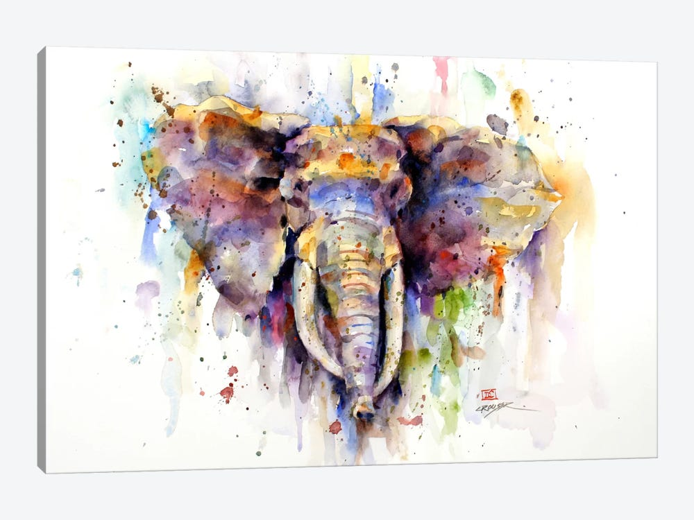 Elephant Art Print by Dean Crouser | iCanvas