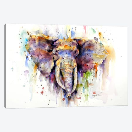 Elephant 3-Piece Canvas #DCR11} by Dean Crouser Canvas Artwork