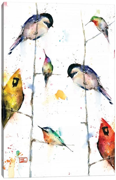 Birds on Branches Canvas Art Print