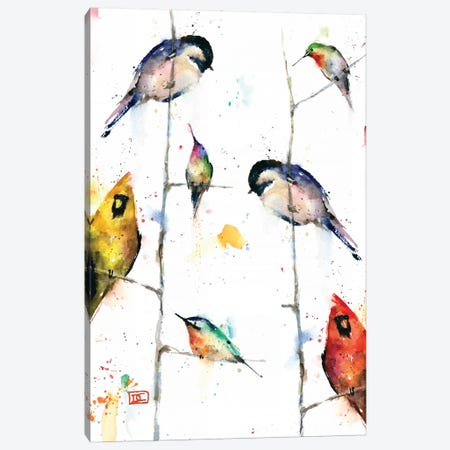 Birds on Branches 3-Piece Canvas #DCR123} by Dean Crouser Canvas Wall Art