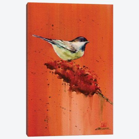 Chickadee on Butterfly Bush Canvas Print #DCR127} by Dean Crouser Canvas Art Print