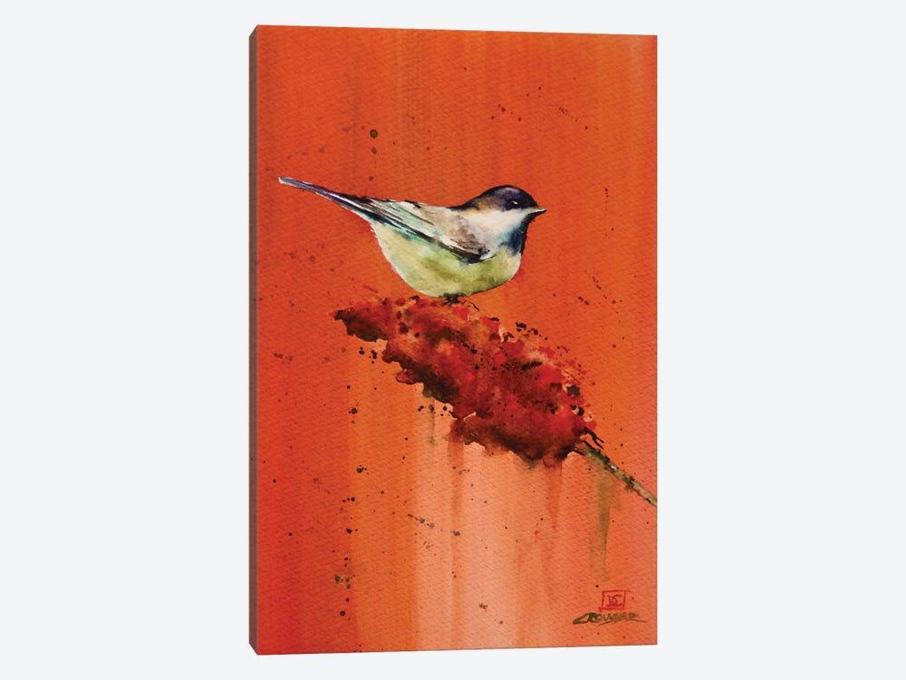 Chickadee on Butterfly Bush by Dean Crouser 1-piece Canvas Art