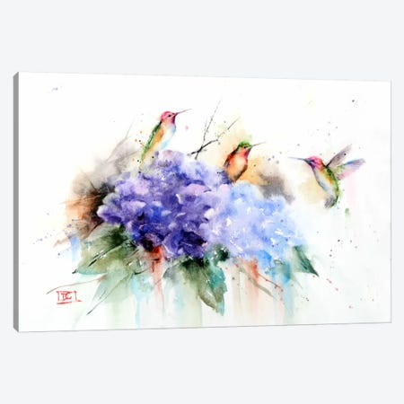 Three Hummingbirds Canvas Print #DCR12} by Dean Crouser Canvas Wall Art