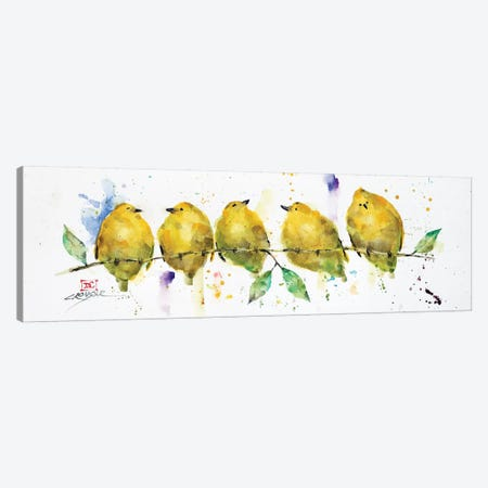 Lemon Birds 3-Piece Canvas #DCR133} by Dean Crouser Canvas Print