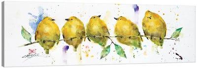 Lemon Birds Canvas Art Print