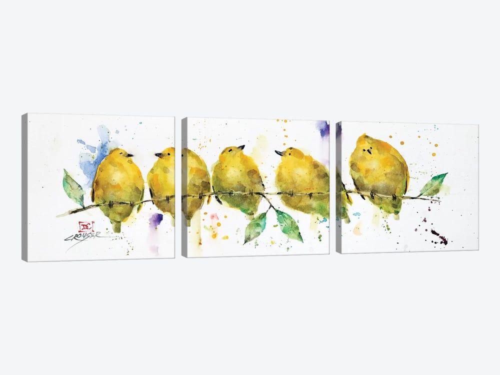 Lemon Birds by Dean Crouser 3-piece Art Print
