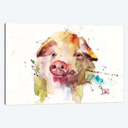 Oink Canvas Print #DCR135} by Dean Crouser Canvas Artwork