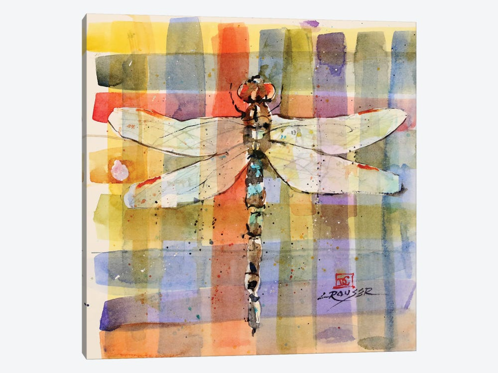 Plaid Dragonfly by Dean Crouser 1-piece Canvas Print