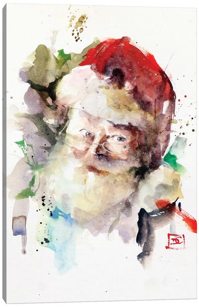 Santa Canvas Art Print