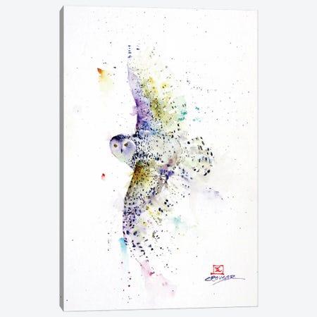 Snowy in Flight Canvas Print #DCR140} by Dean Crouser Canvas Art