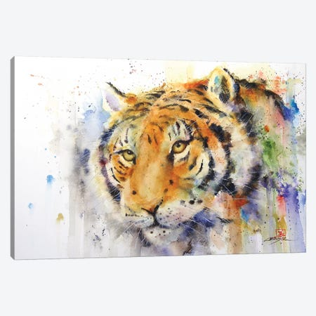 Tiger Canvas Print #DCR143} by Dean Crouser Canvas Wall Art