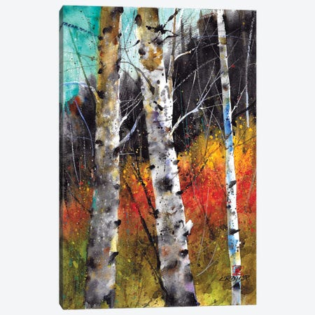 Trees on Fire 3-Piece Canvas #DCR144} by Dean Crouser Art Print