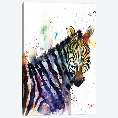 Zebra Canvas Print #DCR146} by Dean Crouser Canvas Art Print