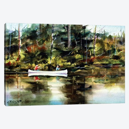 Backwater Canvas Print #DCR147} by Dean Crouser Art Print